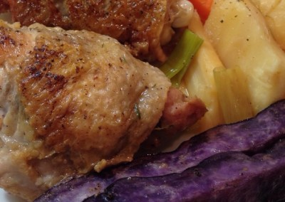 Chicken Thighs, Chicken Legs, and Vegetables – a Simple Dinner