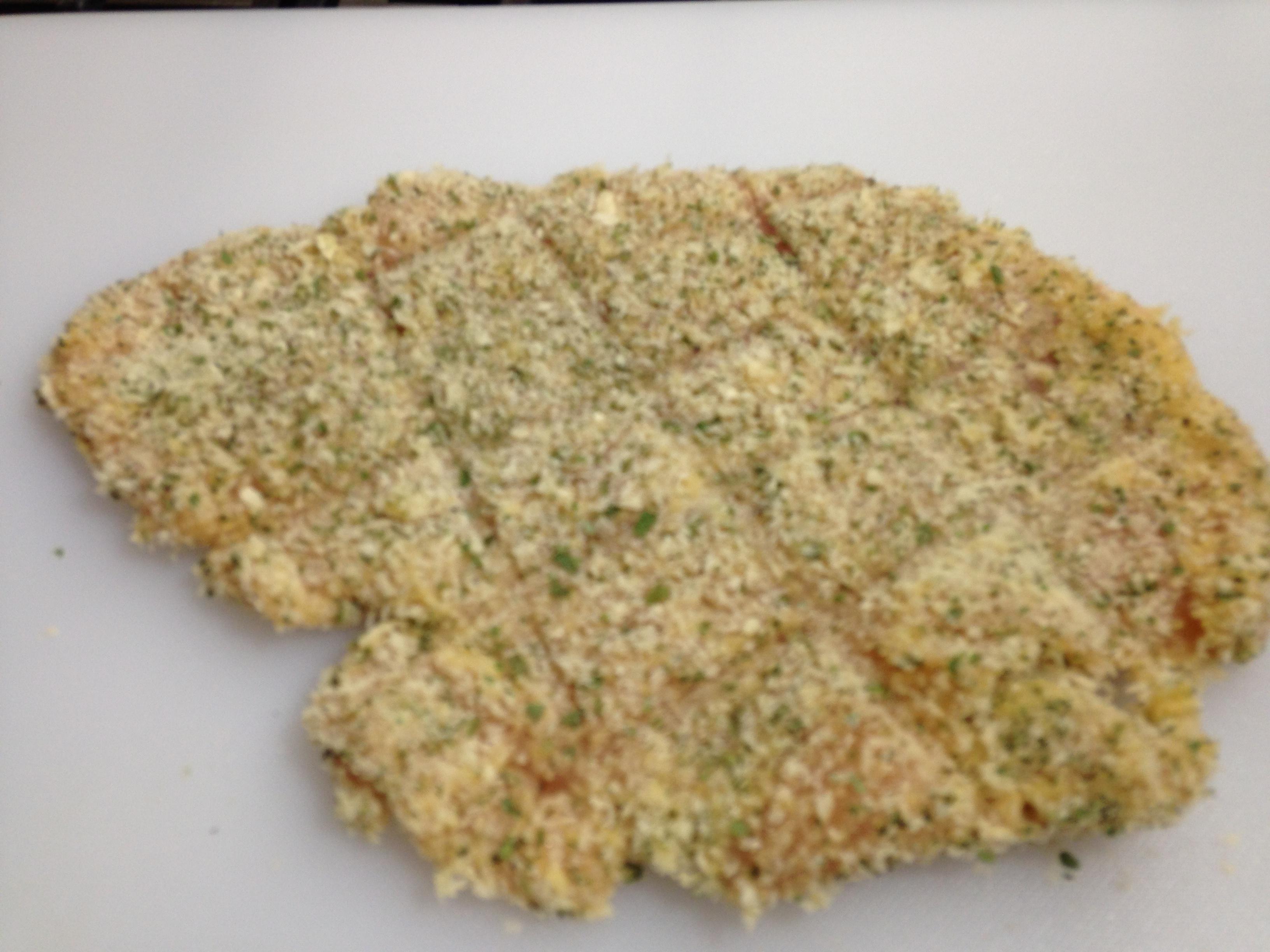 Herbed Chicken Schnitzel