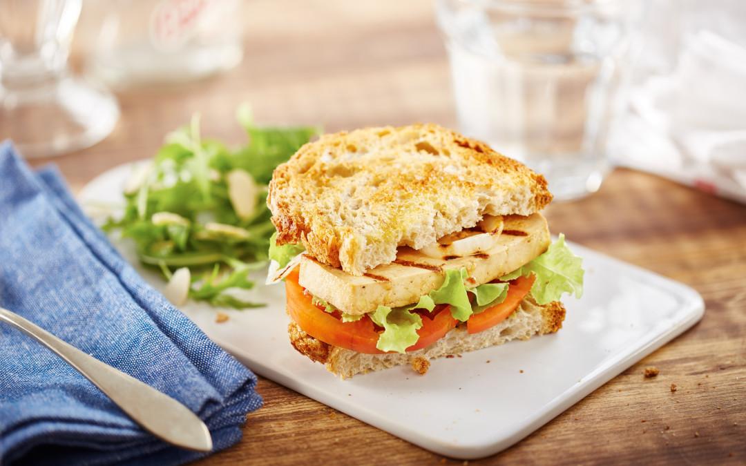 Sandwich Ideas: Grilled Tofu On Rustic Bread