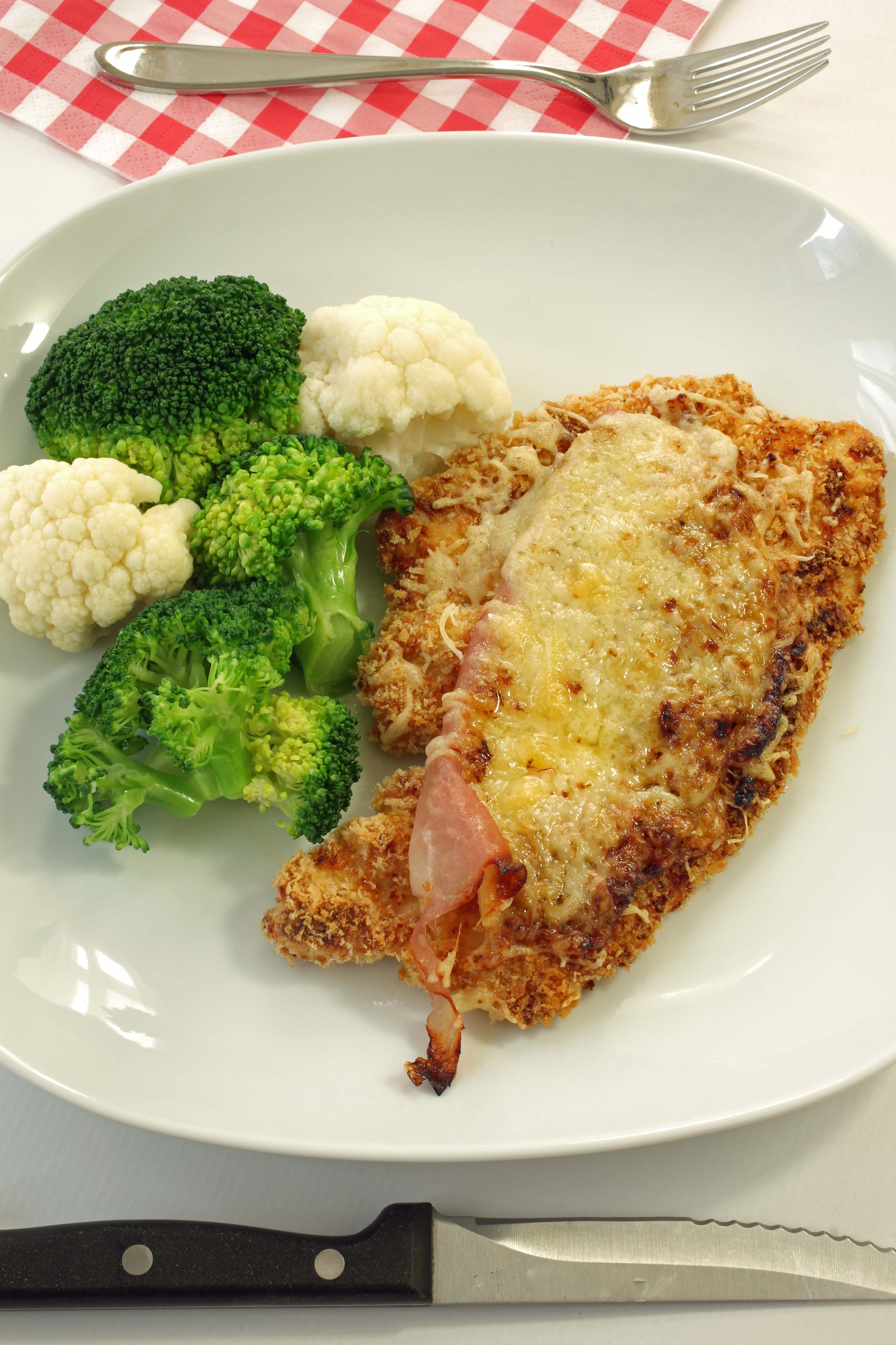 Baked Chicken Cordon Bleu - Unrolled! - The Culinary Exchange