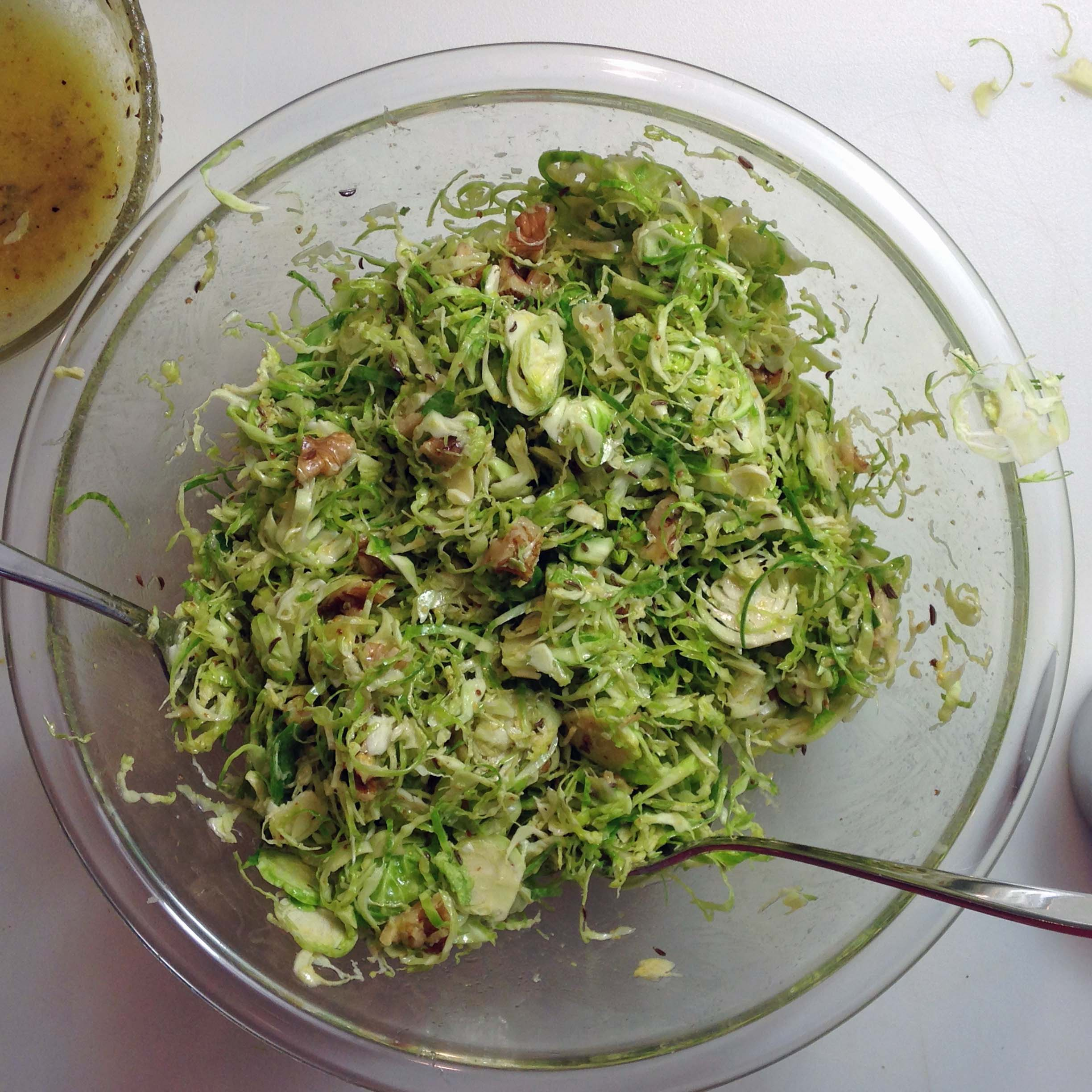 Brussels Sprout Slaw - Brussel Sprout Slaw - The Culinary