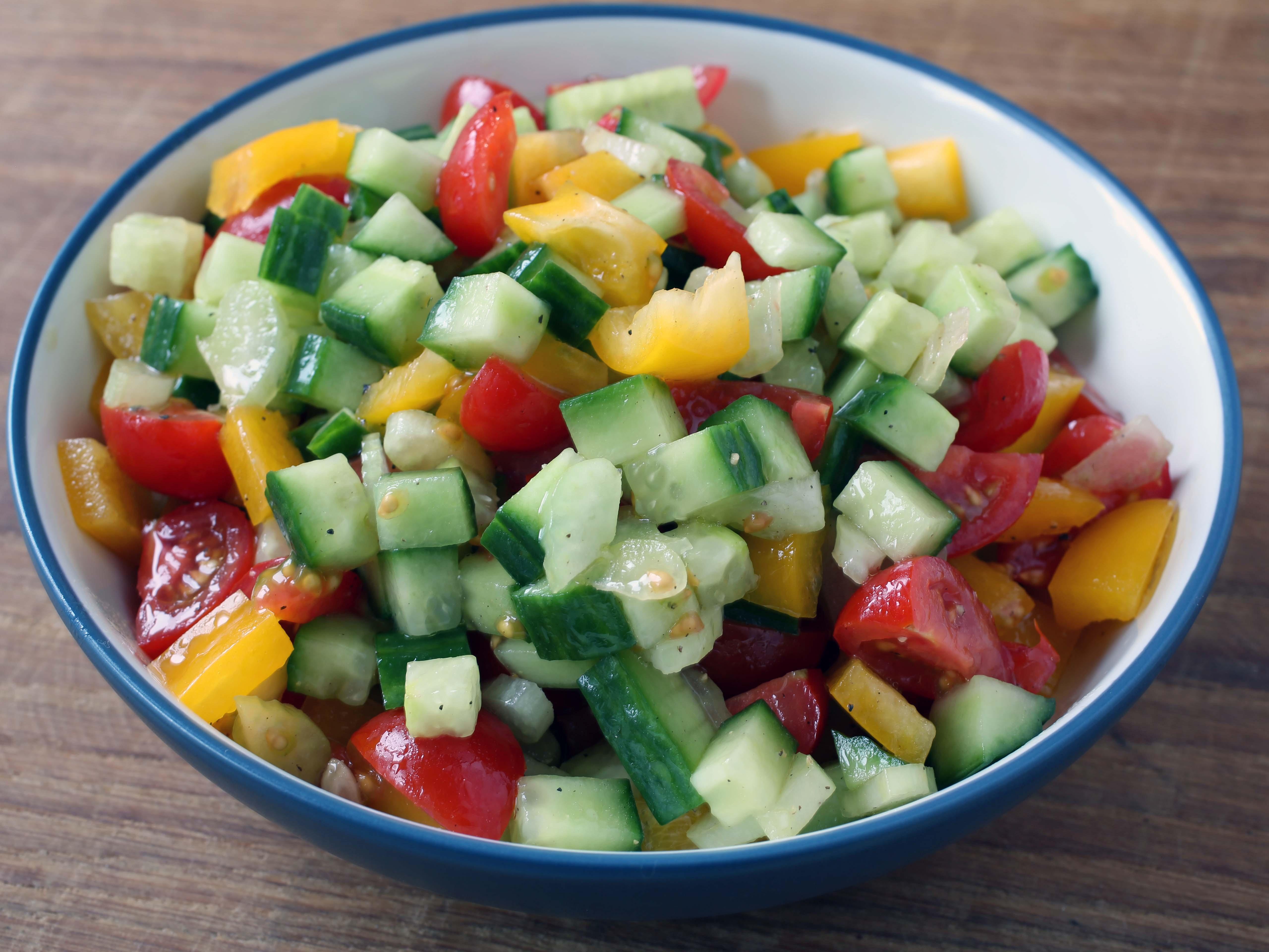 make Israeli salad