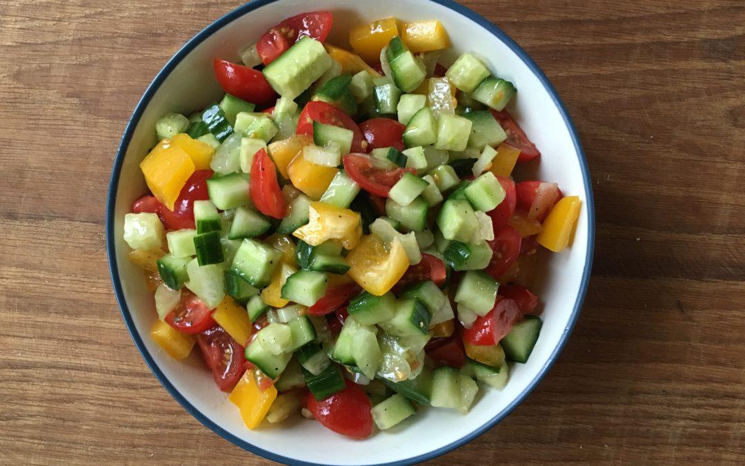 Make Israeli Salad: The Easiest Salad In the World