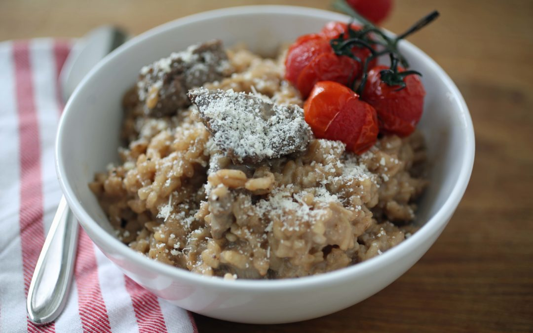A Different Dinner Idea: Beef and Red Wine Risotto Recipe
