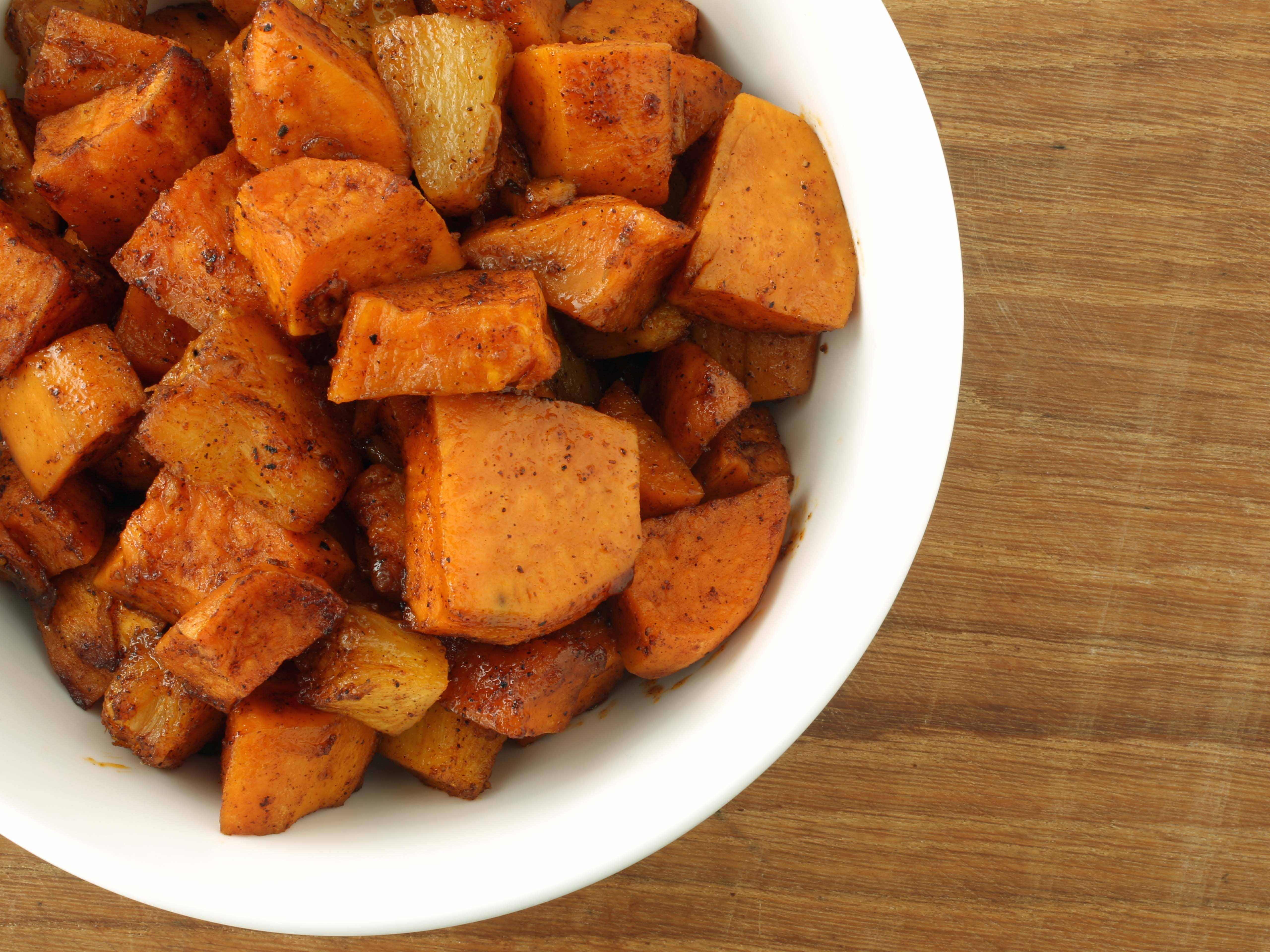 roast sweet potatoes
