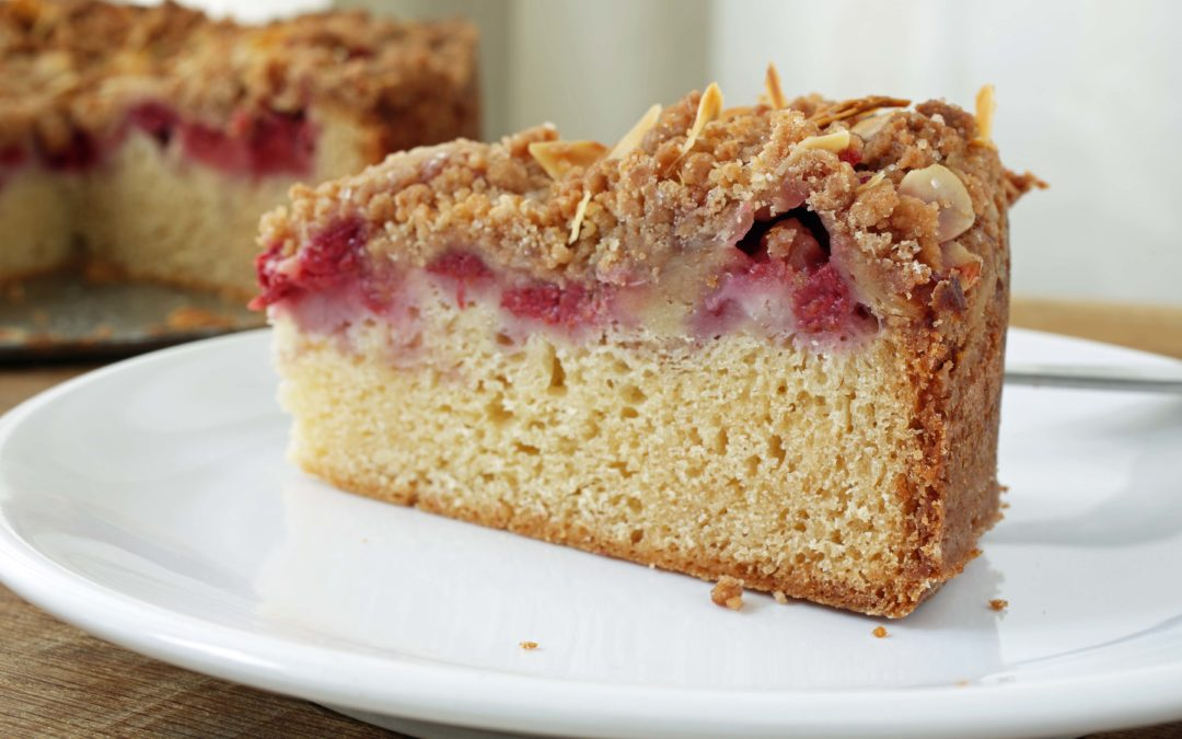 How To Make Coffee Cake With Raspberries and Streusel