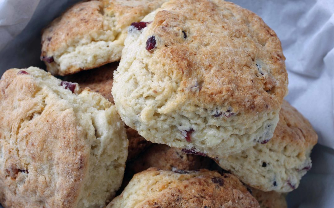How To Make Scones – White Chocolate and Cranberry